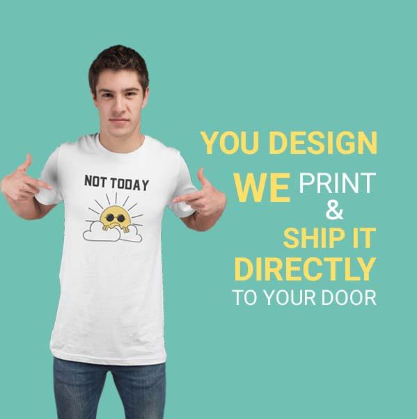 Custom Designed Men T-Shirt in Qatar by Hues Hive