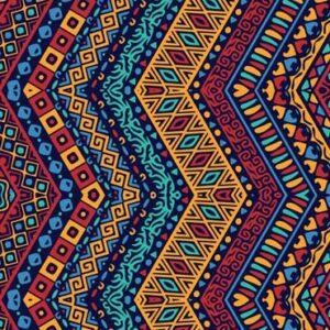 Colorfluent pattern leggings by Hues Hive Qatar
