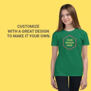 Girl's Premium_Tshirt_customise_in Qatar_by_Hues_Hive